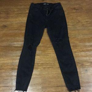Old navy rockstar ankle jeans black